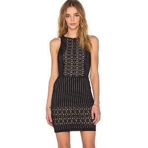 Nightcap black Spiral black lace dress S NWT